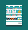 milk products shop stall vector image