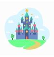 Cartoon Magic Castle Fairytale Medieval House vector image