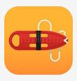 Red Torpedo Rescue Buoy Icon vector image