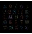 Neon alphabet vector image