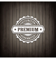 Premium Seal Wooden Background vector image