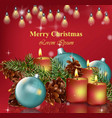merry christmas card background happy vector image