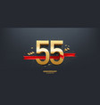 55th year anniversary background vector image