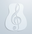 Abstract Guitar and Note Design vector image vector image