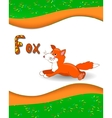 Alphabet letter F and fox vector image vector image