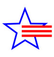 american star symbol and red stripes vector image