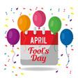 april fools day festive celebration calendar vector image vector image