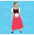 bavarian girl oktober festival dress costume vector image