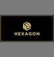 bb hexagon logo vector image vector image
