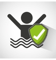 best insurance concept icon vector image vector image