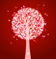 Bright love tree vector image vector image