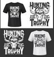 bull yak hunting club t-shirt print mockup vector image vector image