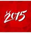 Calligraphy New Year sign on red triangles vector image vector image