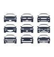 car black silhouette cars front view icon vector image vector image
