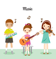 Children Playing Music By Musical Instruments vector image