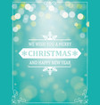 christmas and new year greetings typography vector image