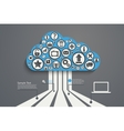Cloud Computing bl vector image