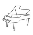 contour grand piano from black lines on white vector image