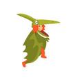 cute girl wearing funny dinosaur costume kid vector image vector image