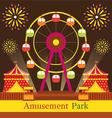 Ferris Wheel Amusement Park Carnival Fun Fair vector image vector image