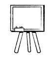 figure school blackboard with wood frame design vector image