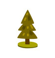 fir tree element of a landscape vector image vector image