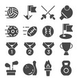 fitness and sport icons on vector image vector image