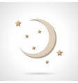 Flat color crescent icon vector image vector image