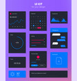 Flat user interface set for website