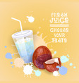 fresh juice logo healthy vitamin drink bar vector image