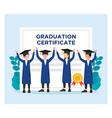 graduation certificate fresh graduate flat vector image vector image