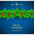 Green Christmas garland of holl vector image vector image