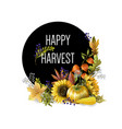 greeting banner harvest with autumn leaves vector image vector image
