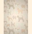 greeting card with unusual pattern with cute vector image vector image