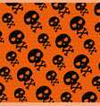halloween card with skulls pattern vector image