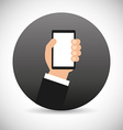 hand on device design vector image vector image