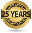happy birthday 25 years gold label