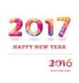 Happy New Year 2017 and 2016 colorful greeting vector image