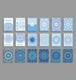 happy new year christmas cards mandala design vector image vector image