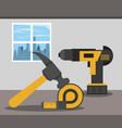 home in renovation vector image
