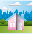 house residence home family protection vector image