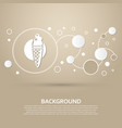 ice cream icon on a brown background with elegant vector image vector image