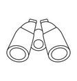 isolated binoculars icon image vector image vector image