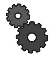 isolated pieces of gear vector image vector image