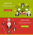 law banner set vector image vector image