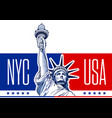 liberty statue usa-nyc 2 vector image vector image