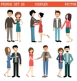 Loving couples Men and women vector image