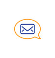 mail line icon messenger communication sign vector image vector image