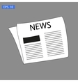 News icon on grey vector image vector image