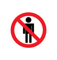 no people sign icon vector image